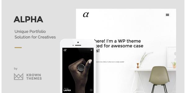 Alpha - The Unique Portfolio Theme for Creatives
