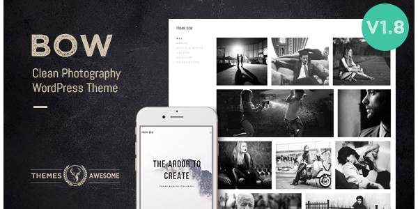 Bow - Clean Photography Portfolio Theme