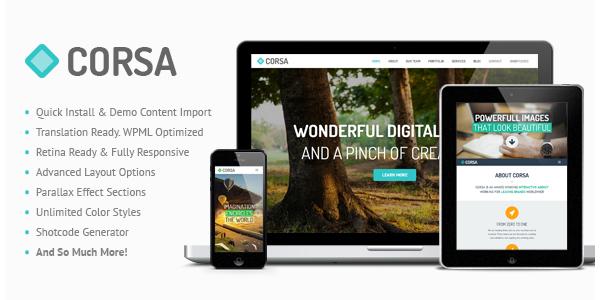 Corsa - Retina Responsive Creative OnePage Theme