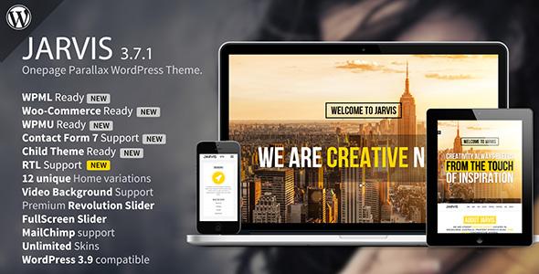 Jarvis - Onepage Parallax WordPress Theme