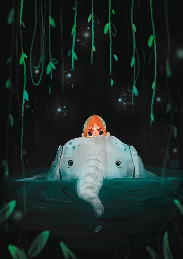 - elephant bath -