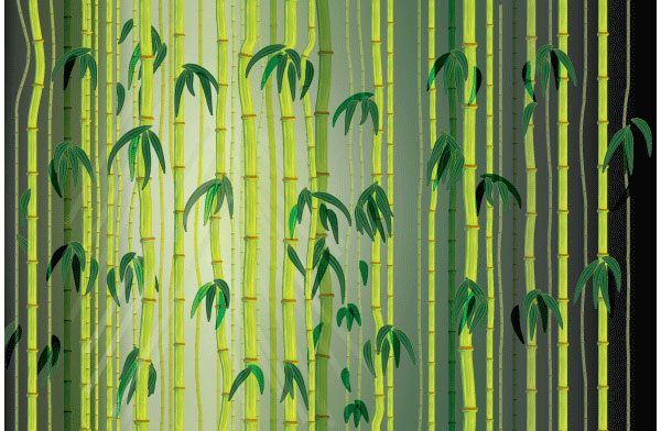 User Ears Burning commented with their take on a vector bamboo illustration thanks to a tutorial by Sharon Milne