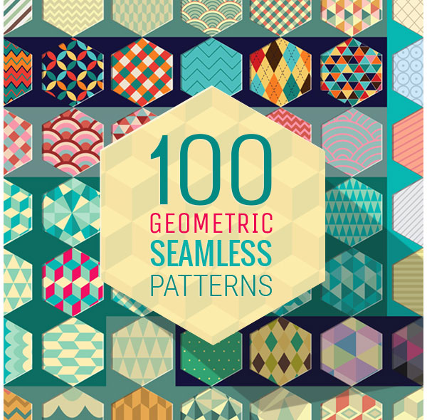 100 Geometric Seamless Patterns