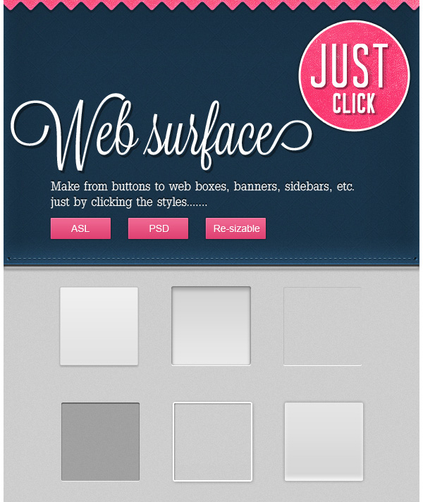 50 WebApp Surfaces PSDASL
