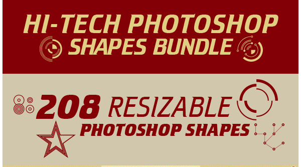 Hi-Tech Photoshop Shapes Bundle