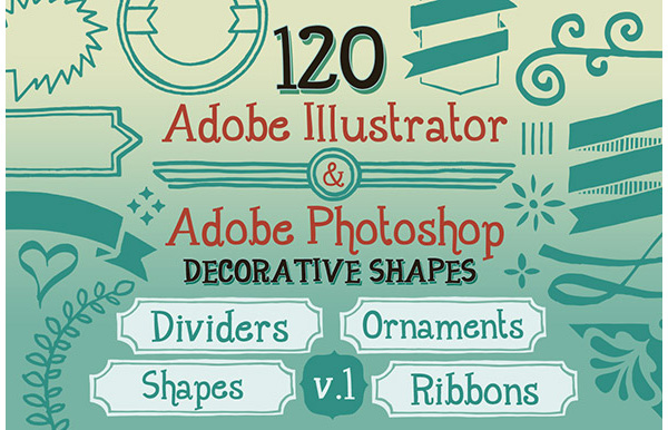 120 Handwritten Decorative Shapes 01