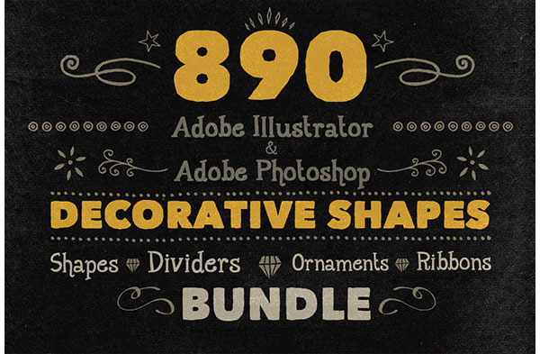890 Handwritten Shapes - Bundle