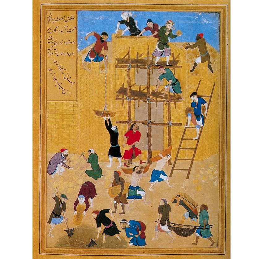 The construction of castle Khavarnaq Arabic  in al-Hira c 1494-1495 CE