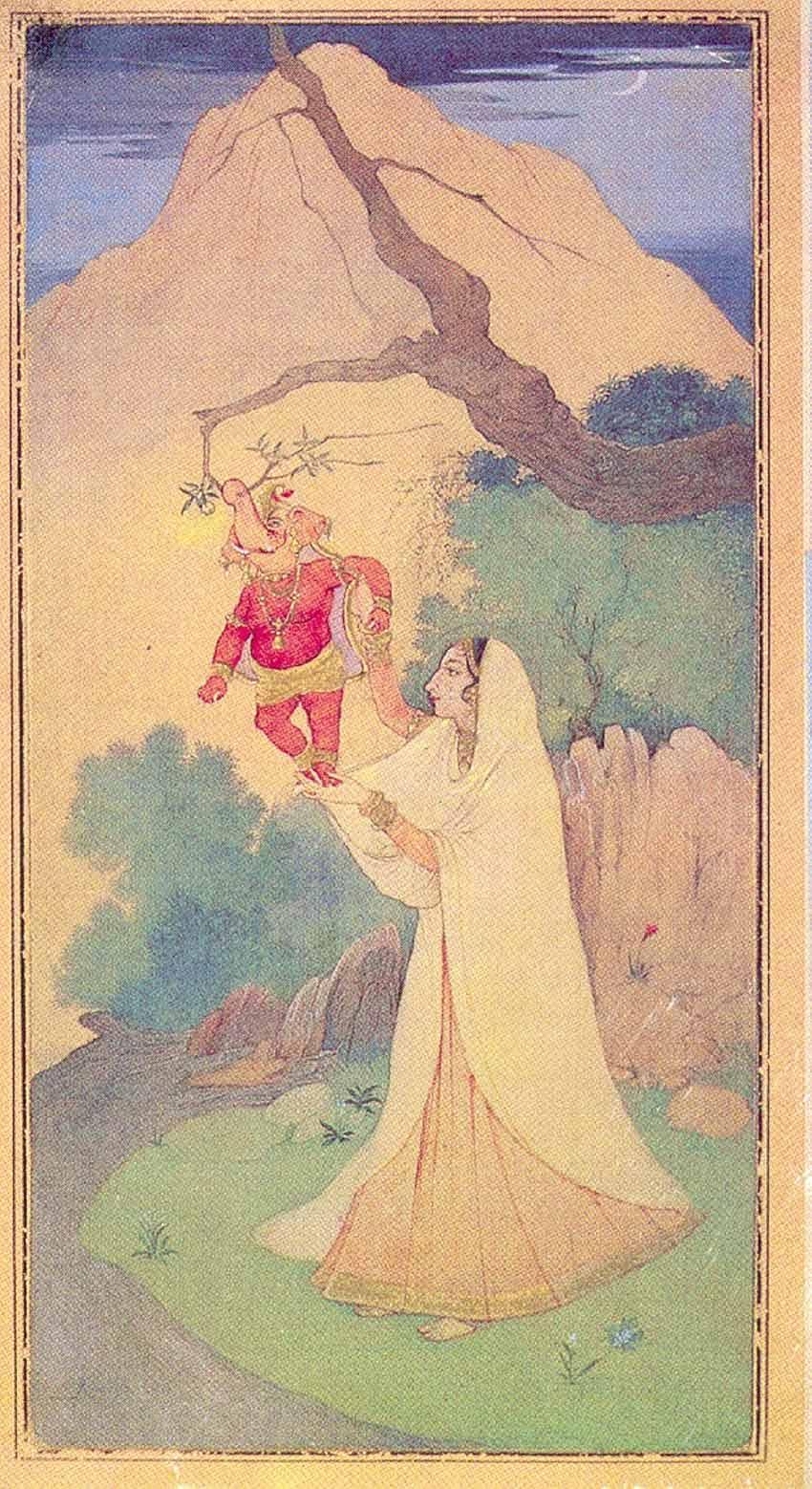 Ganesh-janani by Abanindranath Tagore