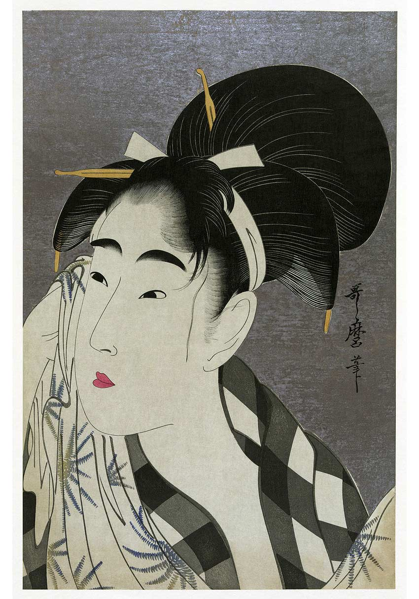 Ase o fuku onna Woman Wiping Sweat Ukiyo-e 1798