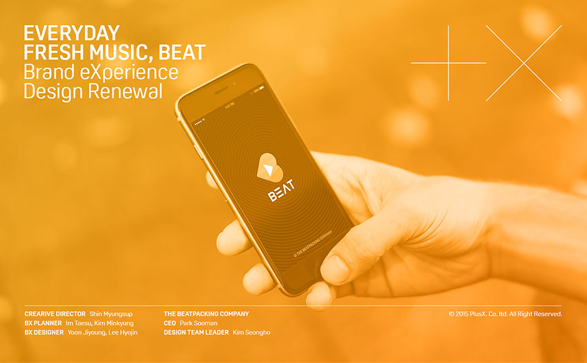 EVERYDAY FRESH MUSIC BEAT Brand eXperience Design