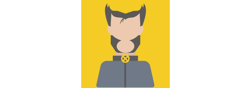 Dogukan Binici commented with their own take on a flat X-Men themed icon tutorial by Yulia Sokolova
