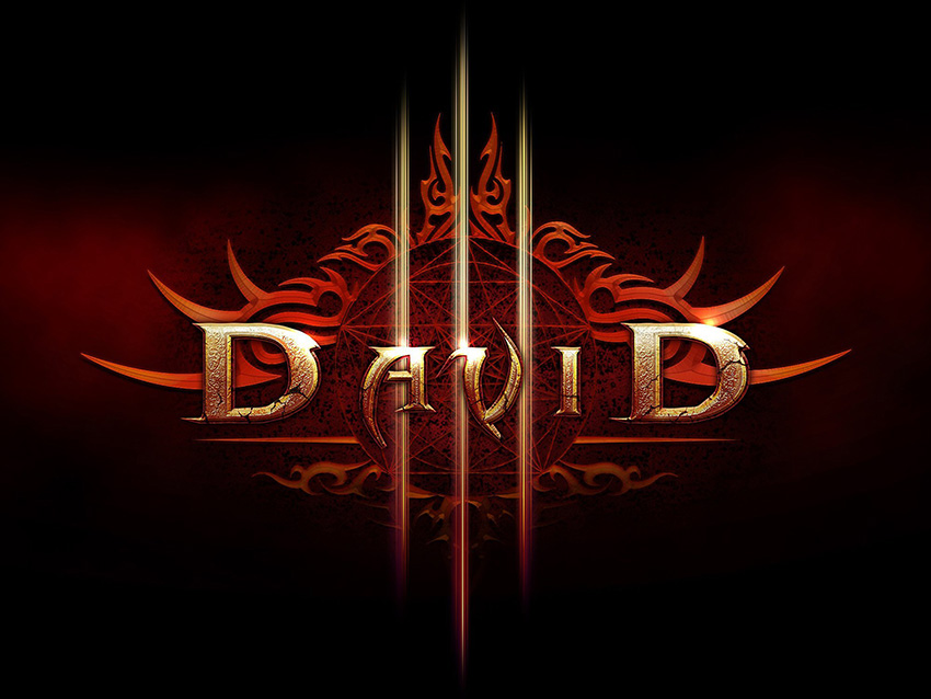 David Anakin shared his result from a Diablo III inspired text effect tutorial by Tony Aube
