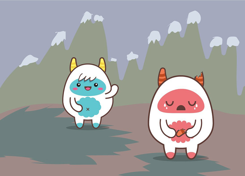 User NataBena shared their result from a cute yeti vector tutorial by Amanda Tepie