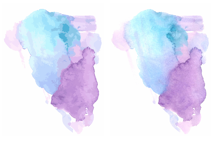 A comparison between watercolor textures