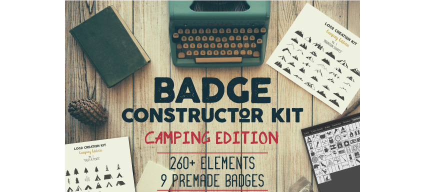 Badge Constructor Kit - Camping Edition