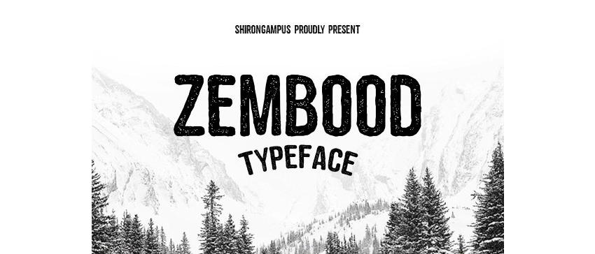 Zembood Typeface