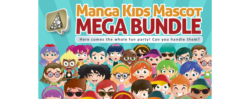 Manga Kids Mascot Mega Bundle