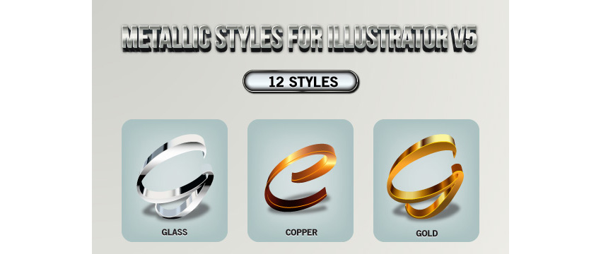 Metallic Styles for Illustrator V5