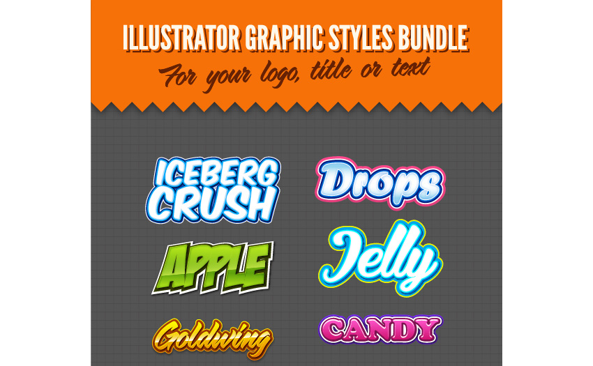 Illustrator Logo Graphic Styles Bundle 1