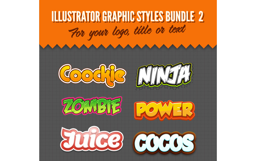 Illustrator Logo Graphic Styles Bundle 2