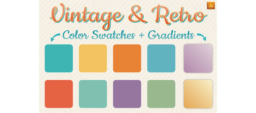 Vintage  Retro Gradients  Color Swatches
