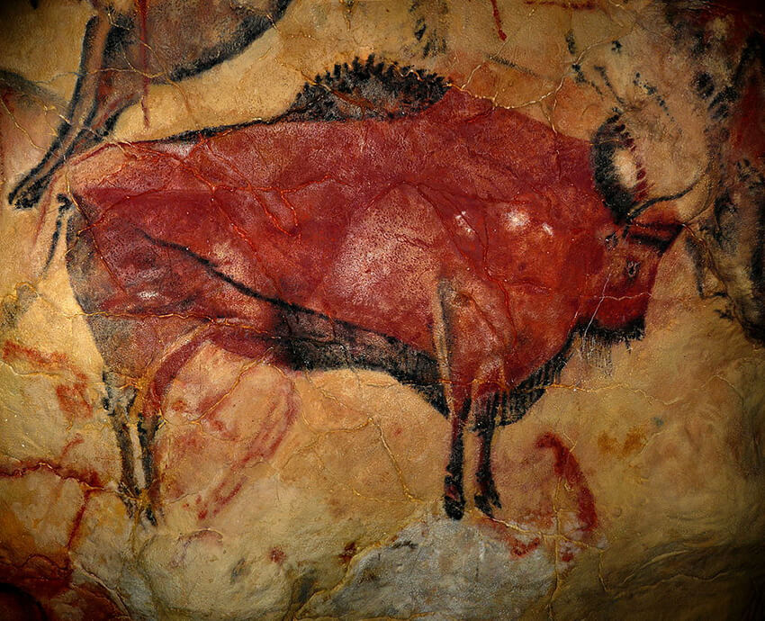 Bison painting at the Cave of Altamira