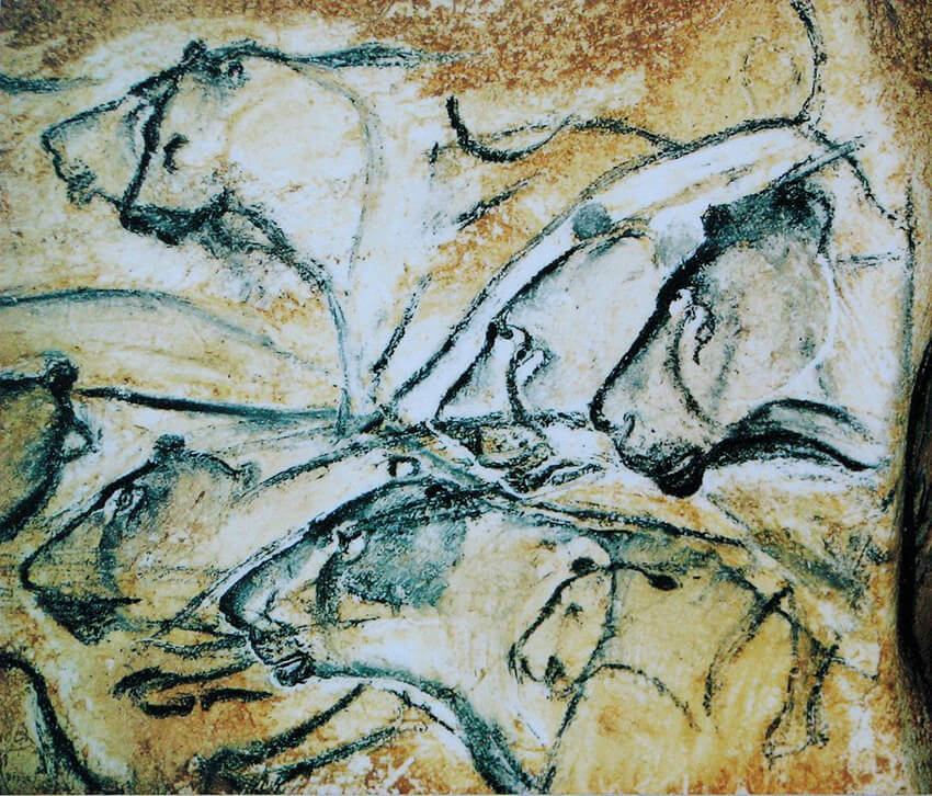 Replica of a painting from Chauvet Cave