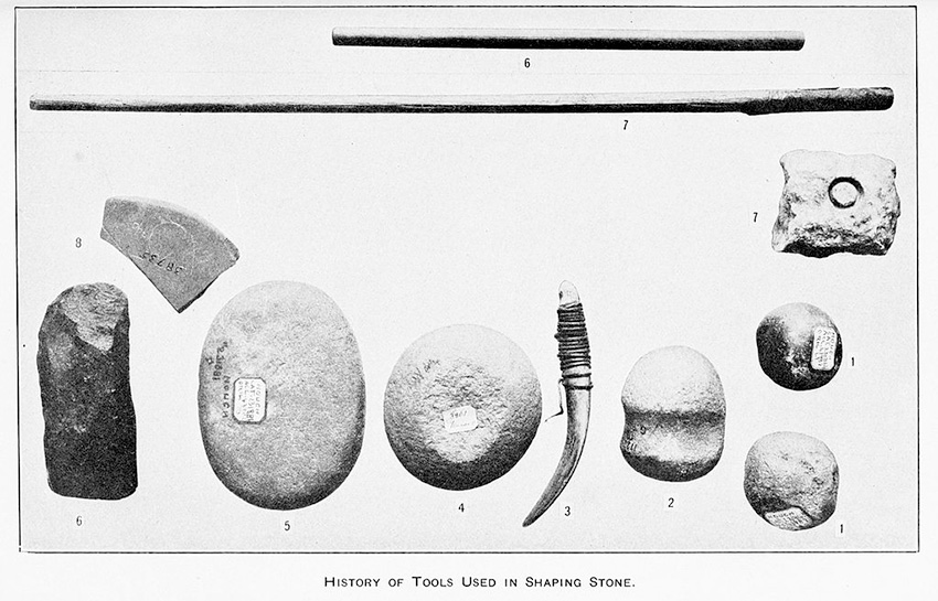 hammerstones and other stone age tools image via wikimedia commons
