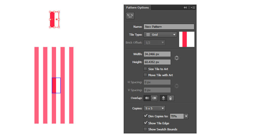 Create a simple stripe pattern