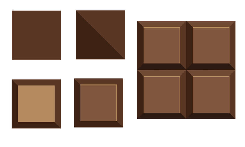 Create your chocolate bar pieces