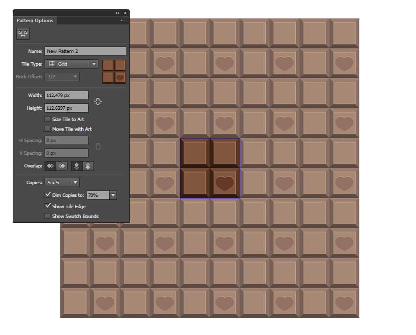 Create a simple chocolate pattern
