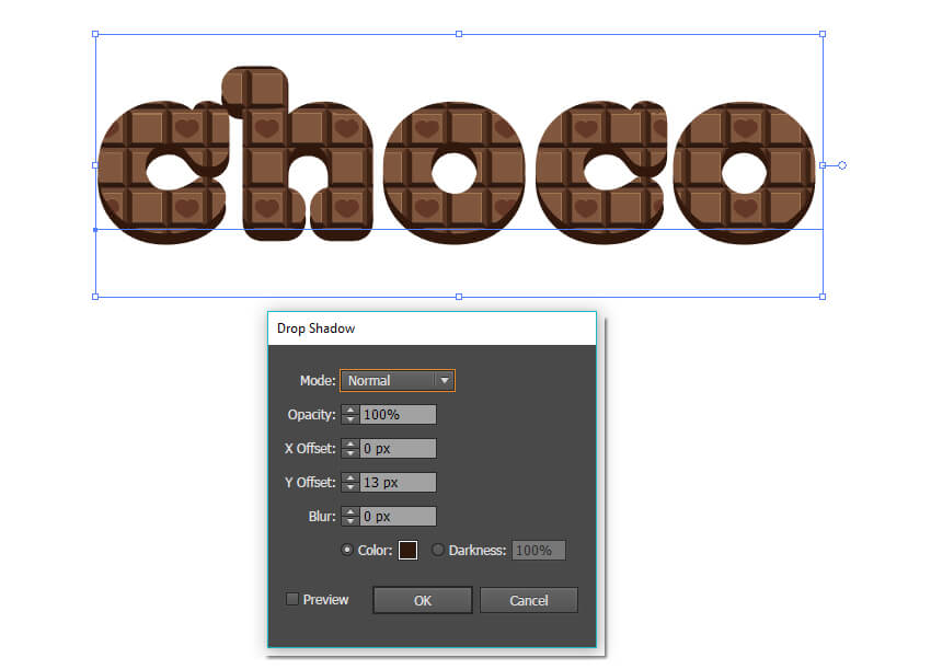 In the Appearance panel add a Drop Shadow Effect  Stylize  Drop Shadow to the pattern fill