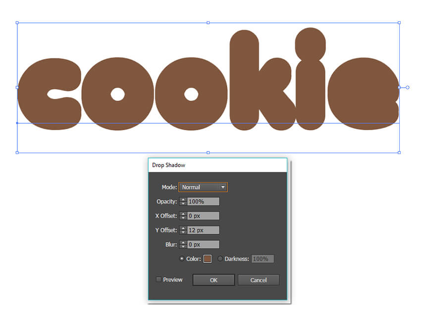 Add a drop shadow effect to the fill in the appearance panel