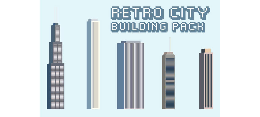 Retro City Building Pack