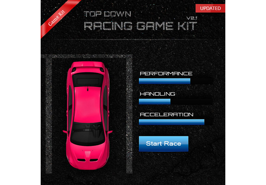 Top Down Racing Game Creation Kit