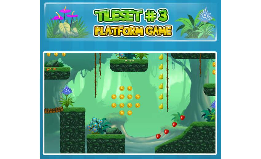 2D Tileset Platform Game 3