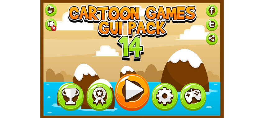 Cartoon Games GUI Pack 14