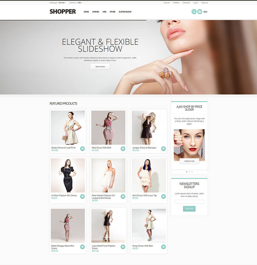 Shopper - Magento Theme Responsive  Retina Ready