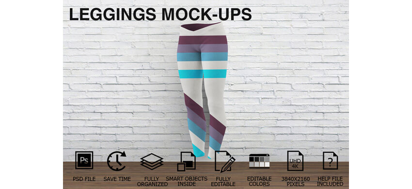 Leggings Mock-ups - Women Clothing