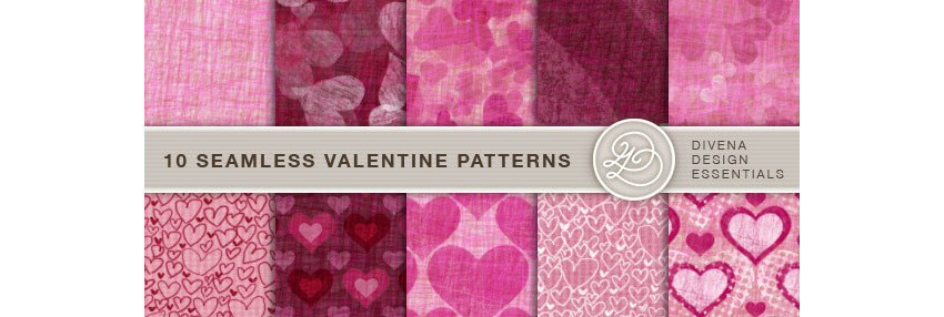 10 Seamless Valentine Patterns