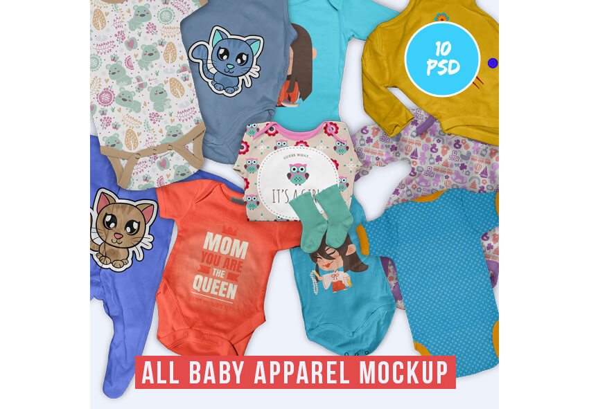 All Baby Apparel Mock-up