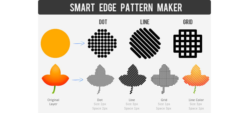 Smart Pattern - Clean Edge Dot Line Grid Action