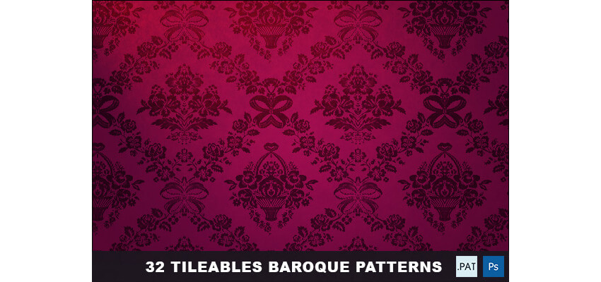 32 Tileables Baroque Backgrounds Textures  Pattern