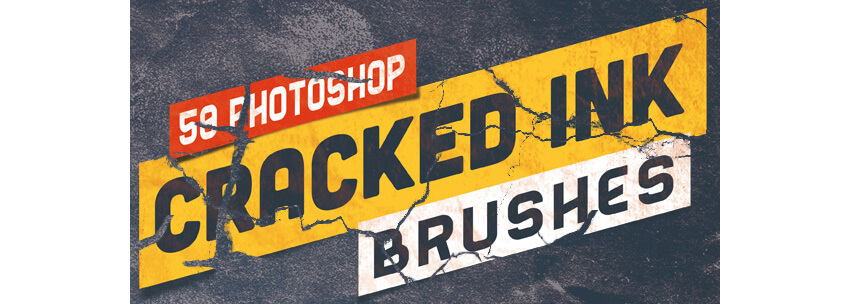 50 Photoshop Crack Grunge Distress Brushes