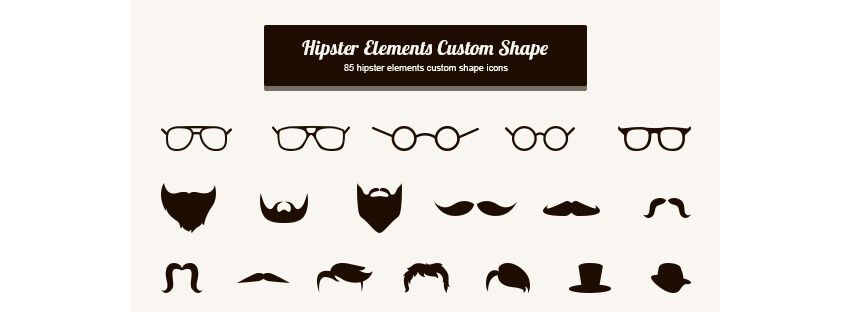 Hipster Elements Custom Shape