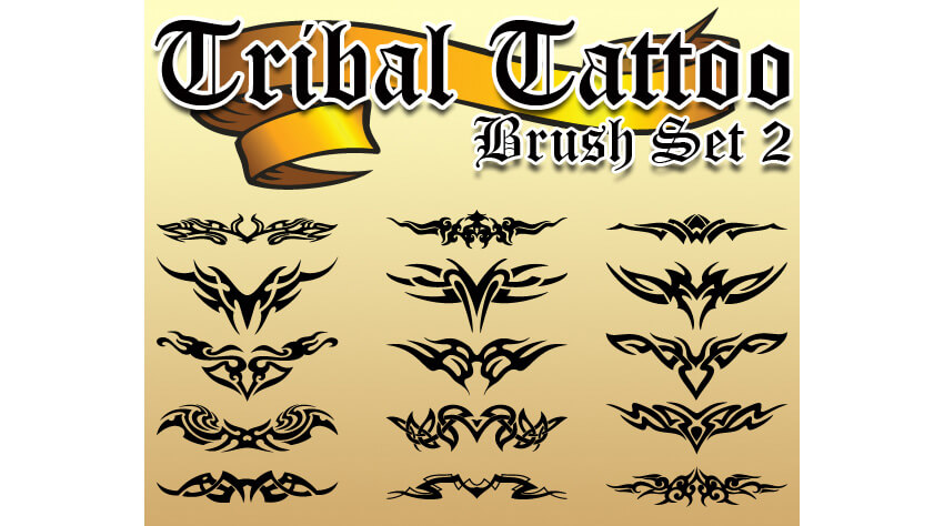 Tribal Tattoo Brush Set 2