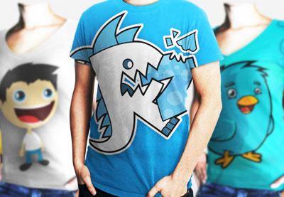 服装设计师的必备物品:t恤设计模板