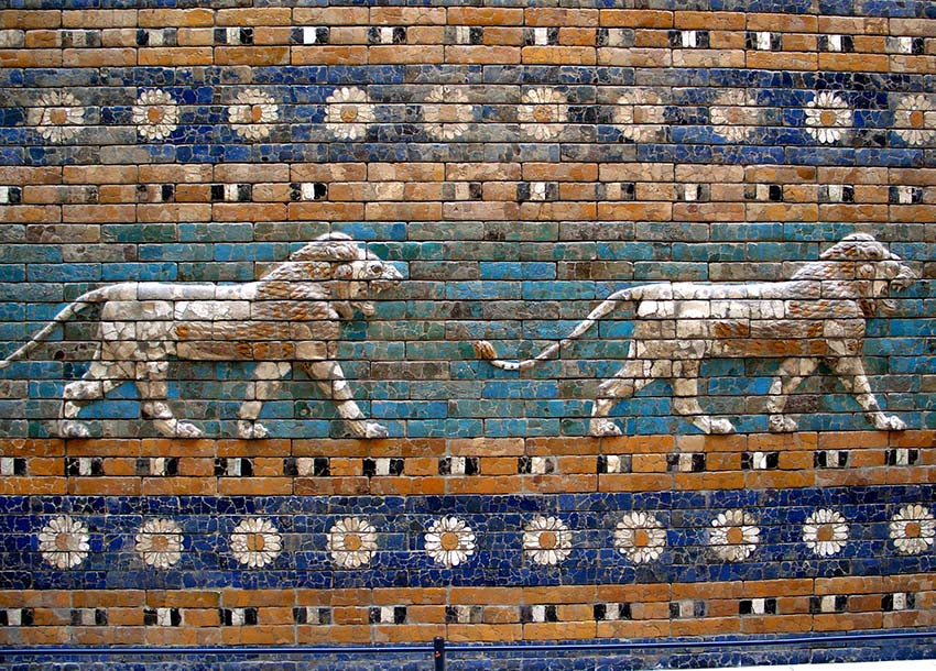 Lions and flowers on the Ishtar Gate