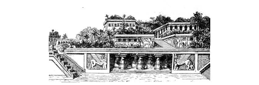 Hanging Gardens of Babylon 20th-century depiction